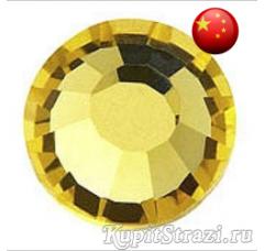 Стразы Citrine ss34 холодной фиксации - стеклянные китайские стразы премиум качества