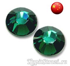 Стразы Emerald ss8 холодной фиксации - стеклянные китайские стразы премиум качества