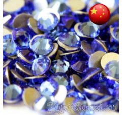 Стразы Sapphire ss8 холодной фиксации - стеклянные китайские стразы премиум качества