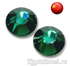 Стразы Emerald ss12 холодной фиксации - стеклянные китайские стразы премиум качества