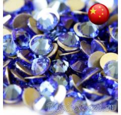 Стразы Sapphire ss12 холодной фиксации - стеклянные китайские стразы премиум качества