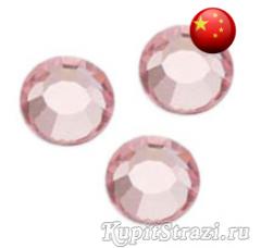 Стразы Light Rose ss12 холодной фиксации - стеклянные китайские стразы премиум качества