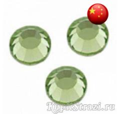 Стразы Light Peridot ss16 холодной фиксации - стеклянные китайские стразы премиум качества