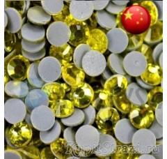 Термостразы Citrine ss12 - стеклянные китайские стразы горячей фиксации премиум качества