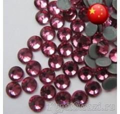 Термостразы Rose ss12 - стеклянные китайские стразы горячей фиксации премиум качества