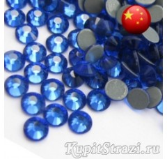 Термостразы Sapphire ss12 - стеклянные китайские стразы горячей фиксации премиум качества