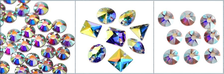Купить стразы crystal ab в интернет магазине с доставкой по почте. Стразы кристал аб высокого качества для купальников для художественной гимнастики и платьев для бальных танцев .