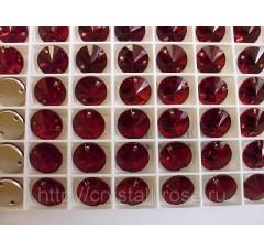Круглые пришивные стразы Siam - 14 мм